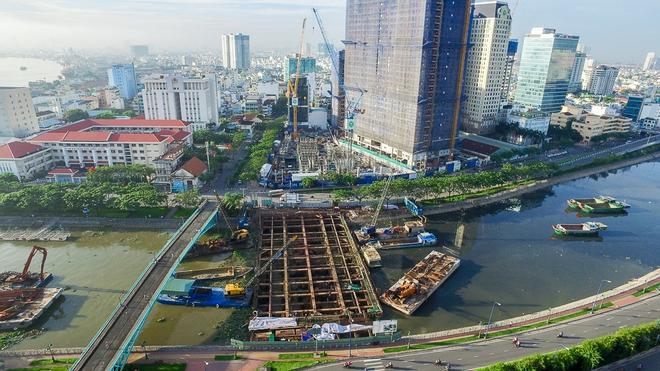 Nhìn từ trên cao công trình chống ngập 10.000 tỷ đang dần thành hình ở Sài Gòn - Ảnh 4.