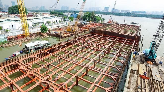 Nhìn từ trên cao công trình chống ngập 10.000 tỷ đang dần thành hình ở Sài Gòn - Ảnh 17.