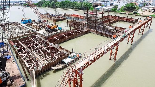 Nhìn từ trên cao công trình chống ngập 10.000 tỷ đang dần thành hình ở Sài Gòn - Ảnh 15.