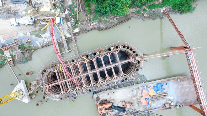 Nhìn từ trên cao công trình chống ngập 10.000 tỷ đang dần thành hình ở Sài Gòn - Ảnh 11.