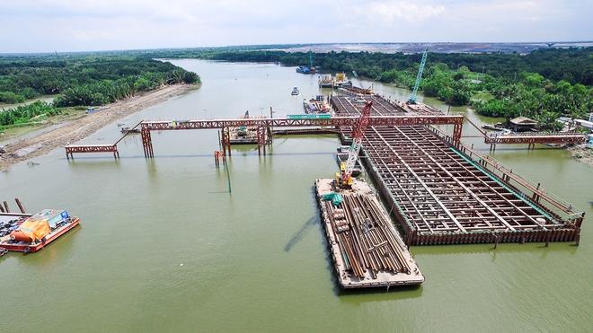 Nhìn từ trên cao công trình chống ngập 10.000 tỷ đang dần thành hình ở Sài Gòn - Ảnh 6.