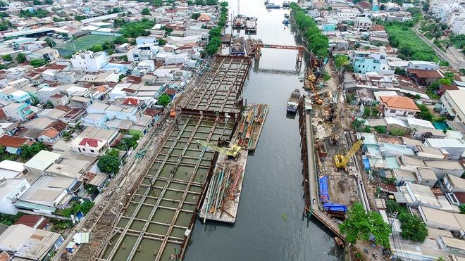 Nhìn từ trên cao công trình chống ngập 10.000 tỷ đang dần thành hình ở Sài Gòn - Ảnh 12.
