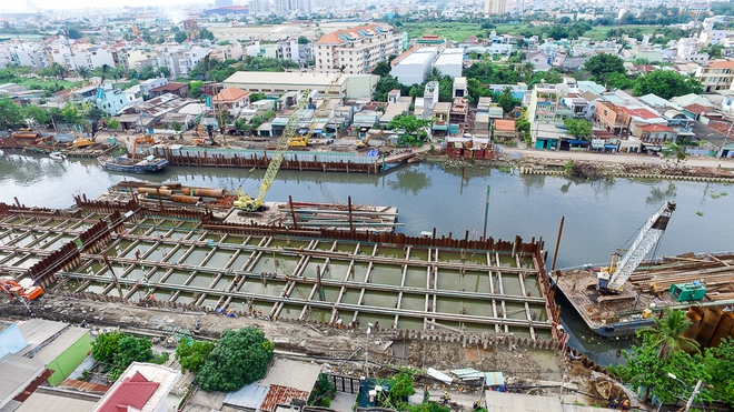 Nhìn từ trên cao công trình chống ngập 10.000 tỷ đang dần thành hình ở Sài Gòn - Ảnh 13.