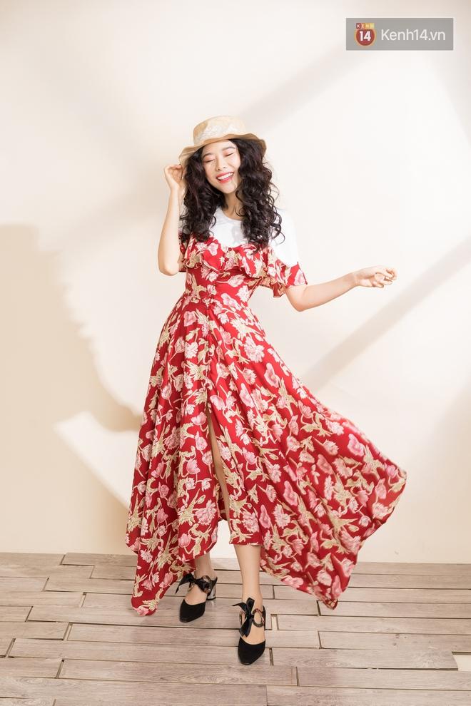 Váy hoa có tới 6 công thức mix cực yêu đảm bảo nàng nào cũng mê tít - Ảnh 1.