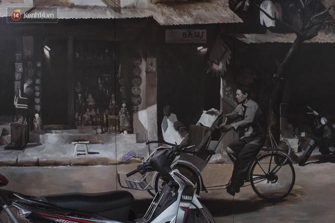Hà Nội: Dự án bích họa trên phố Phùng Hưng bị đắp chiếu, biến thành bãi gửi xe bất đắc dĩ sau 1 tháng triển khai - ảnh 15