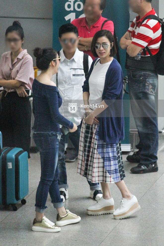 Lý Nhã Kỳ ra tận sân bay tiễn, Xa Thi Mạn thân thiện vẫy tay chào fan Việt - Ảnh 9.