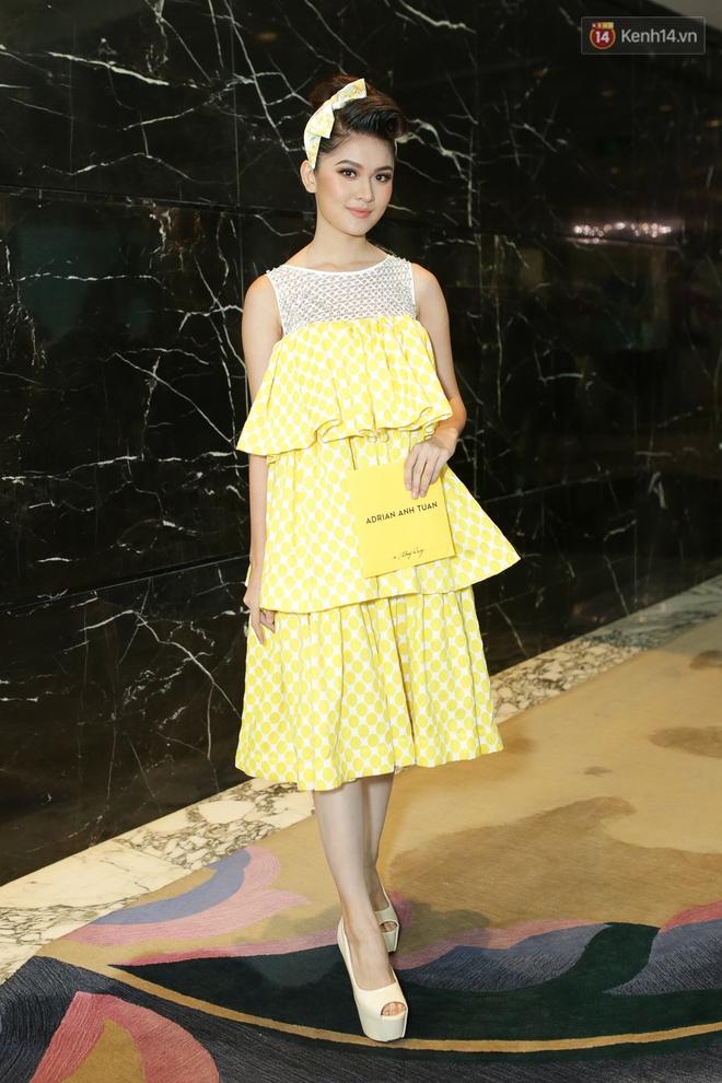 Bộ đôi Hoa hậu Kỳ Duyên - Mỹ Linh đọ sắc với tông vàng rực rỡ tại show thời trang - Ảnh 8.