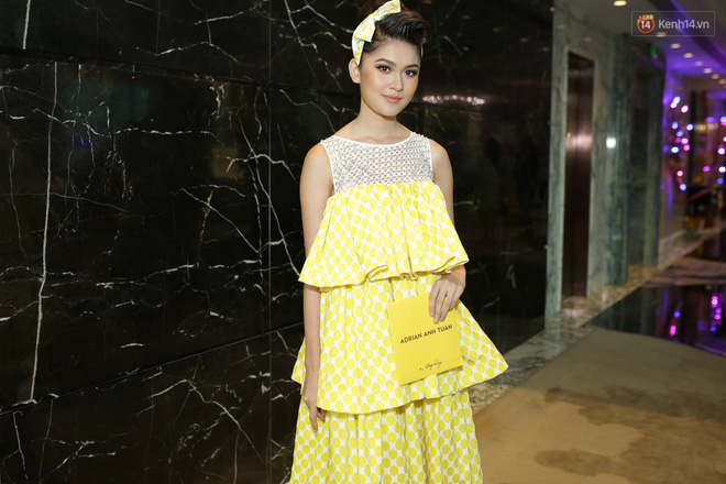 Bộ đôi Hoa hậu Kỳ Duyên - Mỹ Linh đọ sắc với tông vàng rực rỡ tại show thời trang - Ảnh 9.