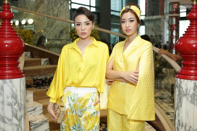 Bộ đôi Hoa hậu Kỳ Duyên - Mỹ Linh đọ sắc với tông vàng rực rỡ tại show thời trang - Ảnh 6.