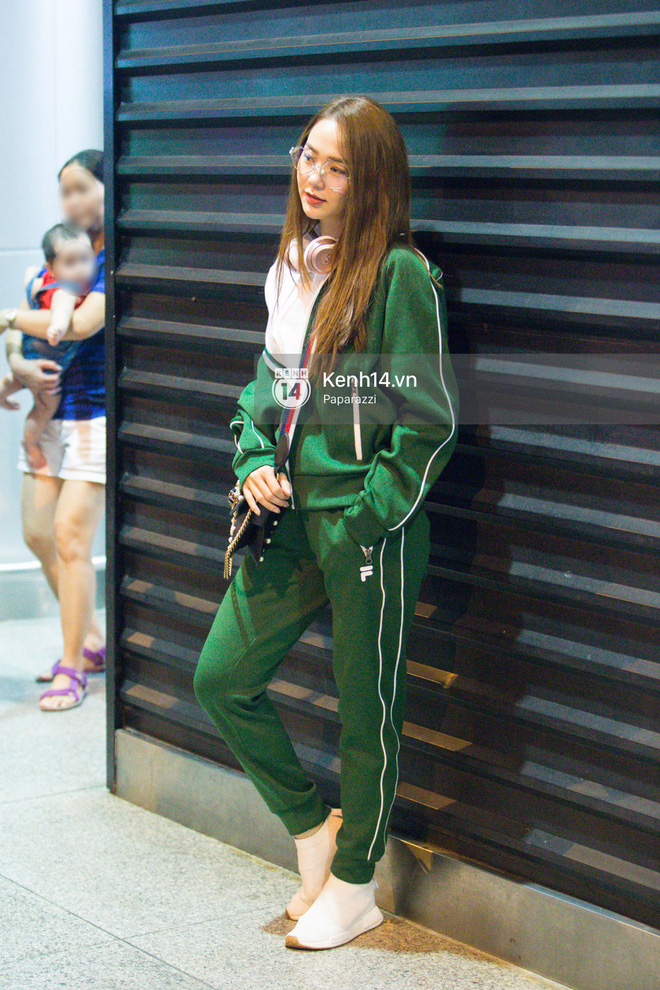 Diện đồ thể thao khoẻ khoắn, Minh Hằng nổi bật giữa sân bay lên đường đi Dubai tham dự tuần lễ thời trang quốc tế - ảnh 6
