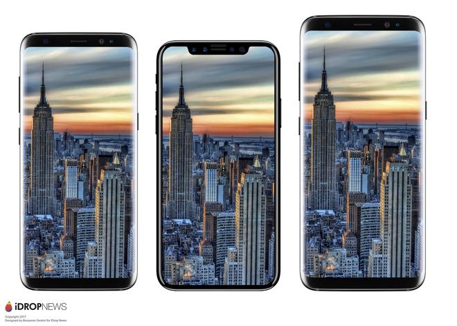 Dù nhỏ hơn iPhone 7 Plus nhưng màn hình iPhone 8 sẽ lớn hơn rất nhiều, bạn cứ nhìn hình ảnh là biết - Ảnh 2.