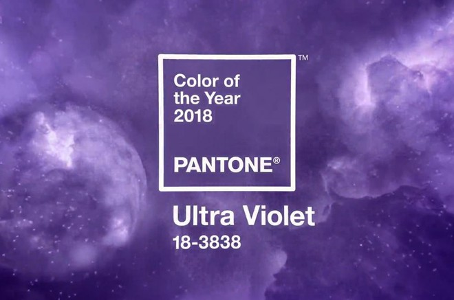 Công bố màu sắc của năm 2018 - thế giới nhuộm màu tím vô cực - ảnh 1