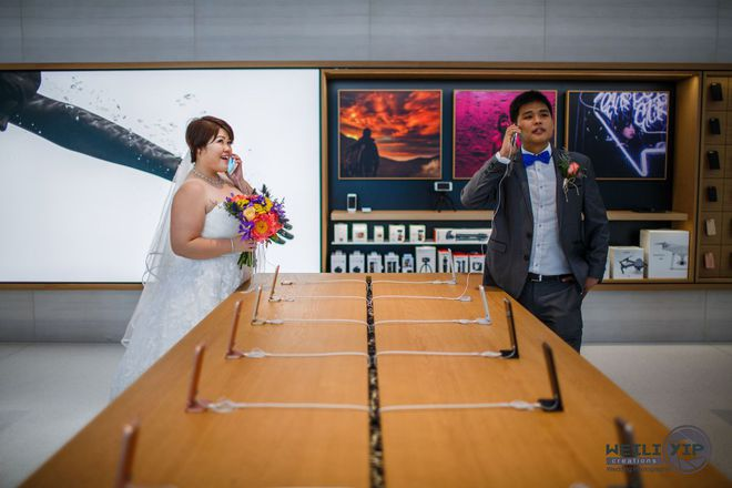 Bộ ảnh cưới của cặp đôi fan cuồng Apple tại Apple Store gây sốt - Ảnh 2.