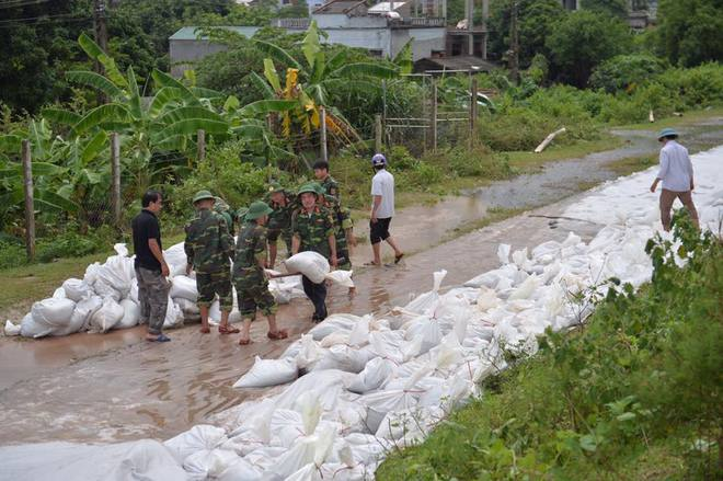 Chùm ảnh: Ninh Bình nhiều nơi nước ngập quá 2m, đường vào khu du lịch Bái Đính bị cô lập - Ảnh 22.