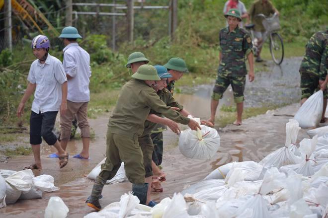 Chùm ảnh: Ninh Bình nhiều nơi nước ngập quá 2m, đường vào khu du lịch Bái Đính bị cô lập - Ảnh 23.