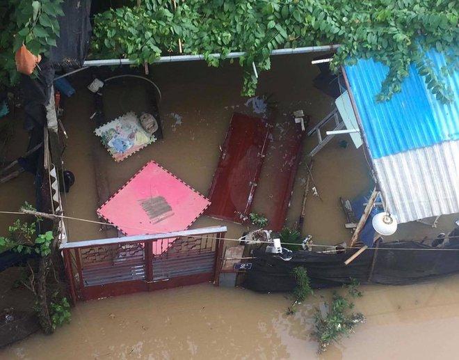 Nước sông Hồng dâng cao, nhiều hoa màu cùng nhà dân bị ngập, tàu thuyền không thể di chuyển qua cầu Long Biên - Ảnh 5.