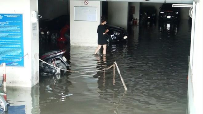 Nước nhấn chìm cả trăm xe máy, ô tô trong chung cư - ảnh 5