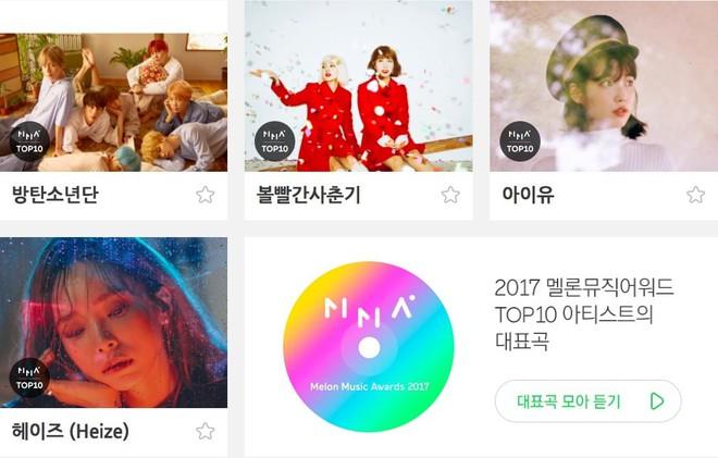 Melon Music Awards đã tìm ra Top 10 nghệ sĩ của năm 2017 - ảnh 2