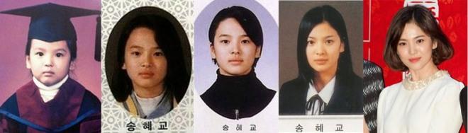 Song Hye Kyo chứng minh nhan sắc xinh đẹp tự nhiên từ bé tới lớn