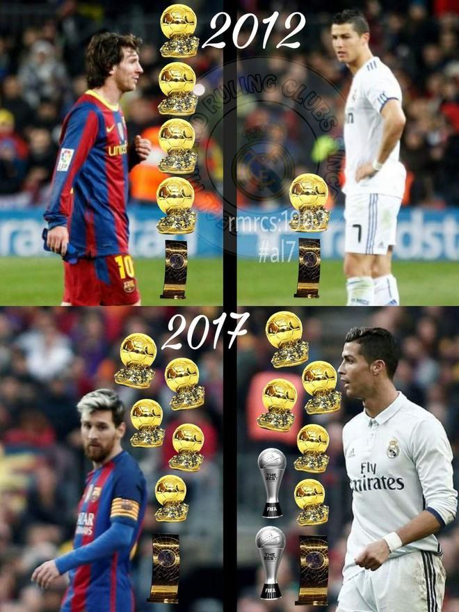 Tỷ số năm 2012 là 4-1 và tưởng chừng Ronaldo không bao giờ đuổi kịp Messi - ảnh 2