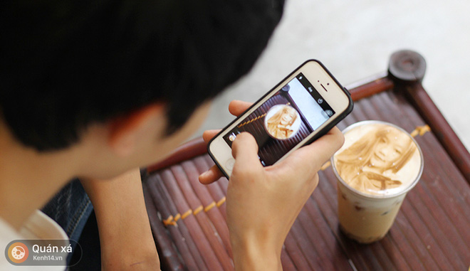 In ảnh lên trà sữa: món mới toanh đầy ảo diệu ở Hà Nội - Ảnh 10.