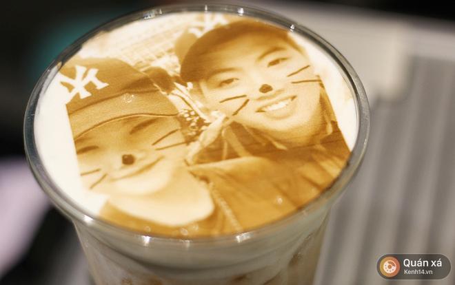 In ảnh lên trà sữa: món mới toanh đầy ảo diệu ở Hà Nội - Ảnh 9.