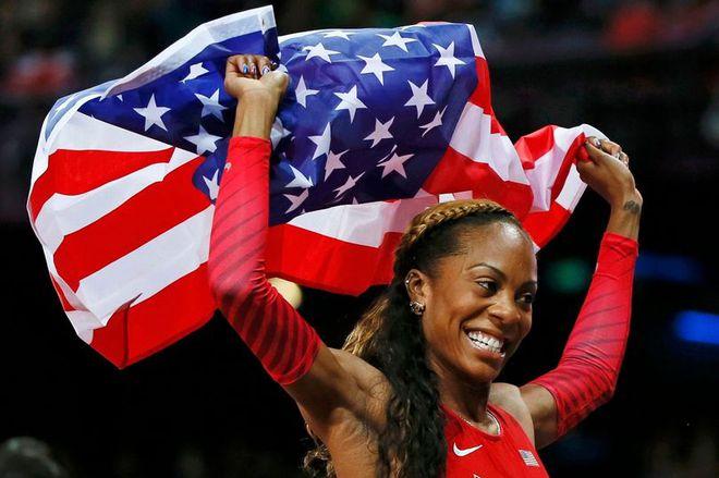 Sao điền kinh Mỹ phá thai 2 tuần trước Olympic vẫn giành HC vàng - Ảnh 2.