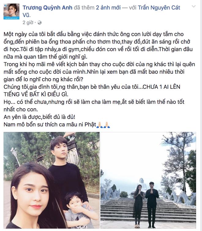 Giữa lùm xùm ly hôn sau 7 năm gắn bó, Trương Quỳnh Anh bức xúc lên tiếng - Ảnh 1.