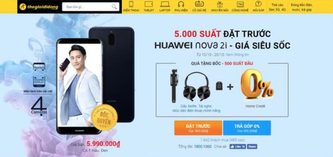 Đặt hàng Huawei nova 2i tại Thế giới Di động, nhận bộ quà tặng siêu chất - Ảnh 2.