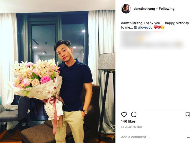 Lần đầu đăng ảnh cận mặt Cường Đô La, Đàm Thu Trang ngọt ngào nói lời yêu bạn trai trong ngày sinh nhật - Ảnh 1.