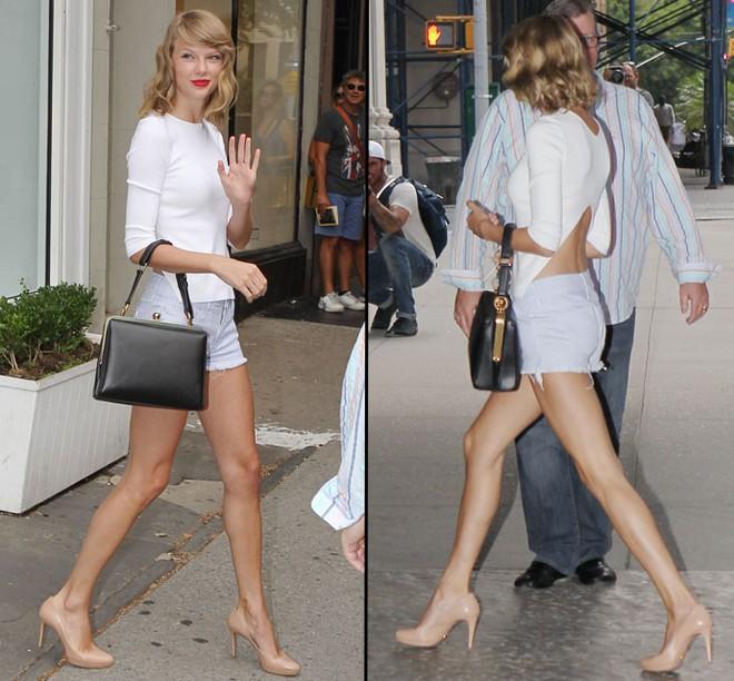 Taylor Swift ở ẩn suốt mấy tháng qua, hóa ra là để ăn nhiều tới mức bụng to, đùi béo thế này?