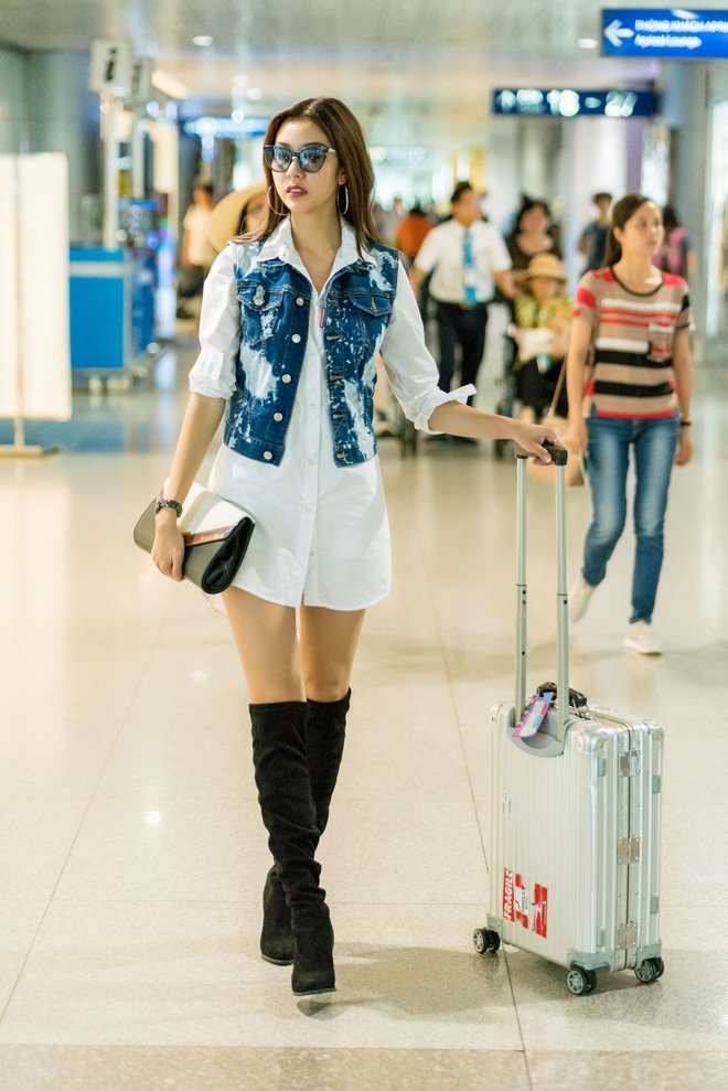 Á hậu Thúy Vân lột xác với phong cách đầy năng động và cá tính tại sân bay - Ảnh 8.