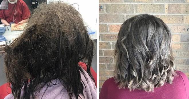 Cô gái trầm cảm tới tiệm để cạo mái tóc tổ chim, cuối cùng được trả hàng bằng kiểu đầu không thể đẹp hơn - Ảnh 2.