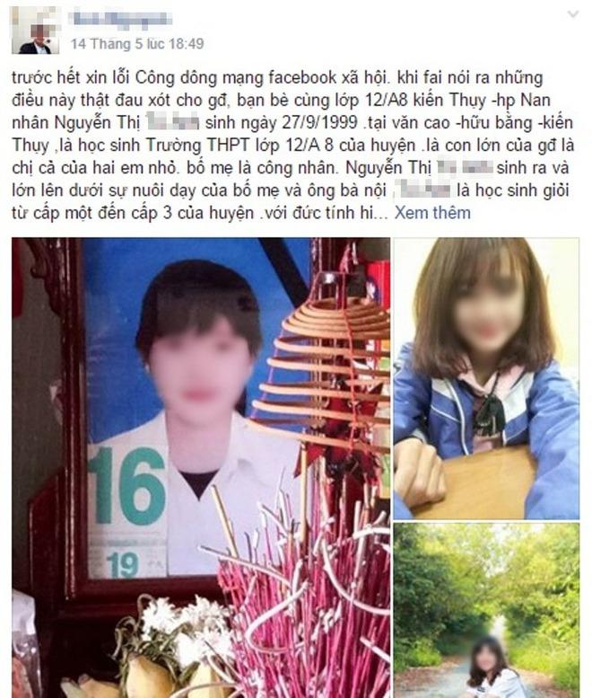 Điều tra nghi án nữ sinh lớp 12 ở Hải Phòng tự tử sau khi bị bạn của người yêu ép quan hệ - Ảnh 1.