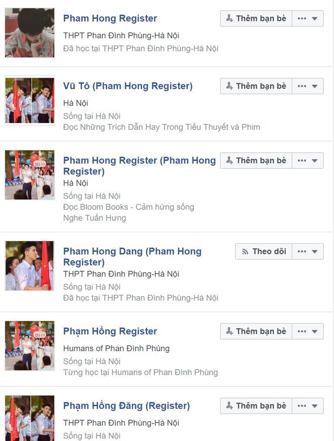 Hotboy cầm cờ trường Phan Đình Phùng lộ ảnh thời cấp 2, xuất hiện loạt tài khoản mạo danh trên Facebook - Ảnh 3.