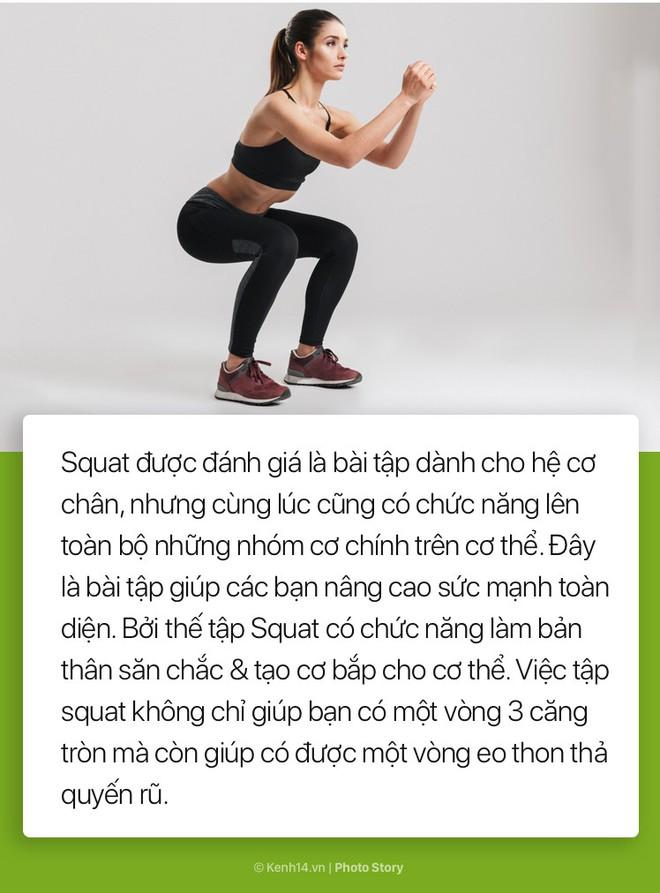 Cải thiện vòng 3 và giảm mỡ thừa mà không phải tới phòng gym với những bài squat tại nhà - Ảnh 1.