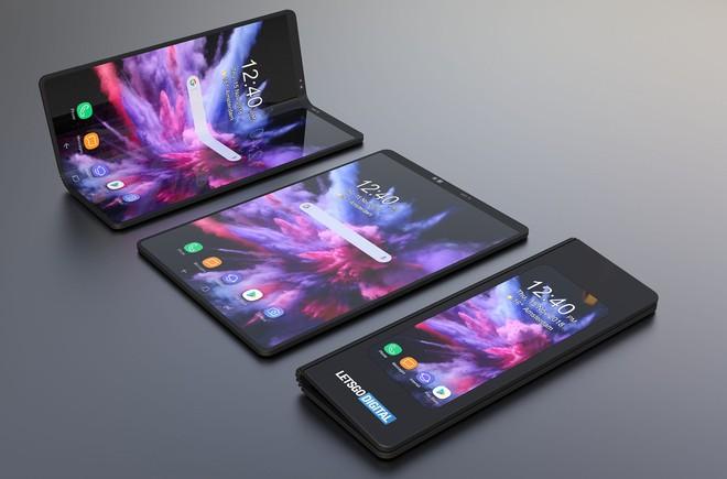 Smartphone màn hình gập của Samsung sẽ trông ảo tung chảo đến thế này sao? - Ảnh 2.