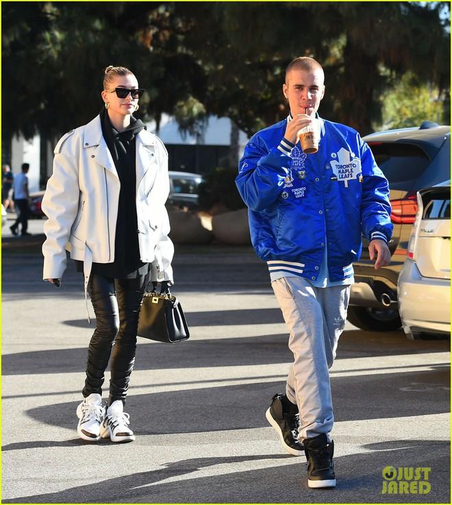Lột xác đẹp trai hơn, Justin Bieber tươi tắn hết cỡ khi hẹn hò bà xã Hailey Baldwin trên phố - ảnh 6