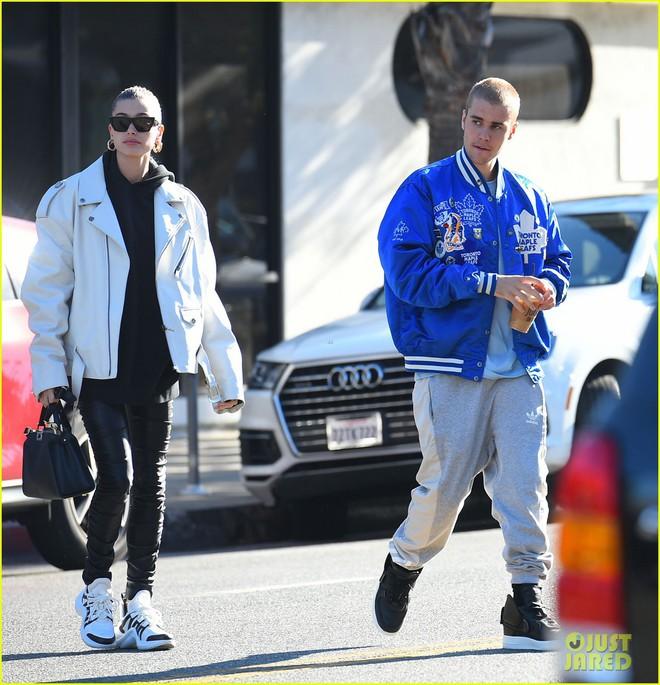 Lột xác đẹp trai hơn, Justin Bieber tươi tắn hết cỡ khi hẹn hò bà xã Hailey Baldwin trên phố - ảnh 5