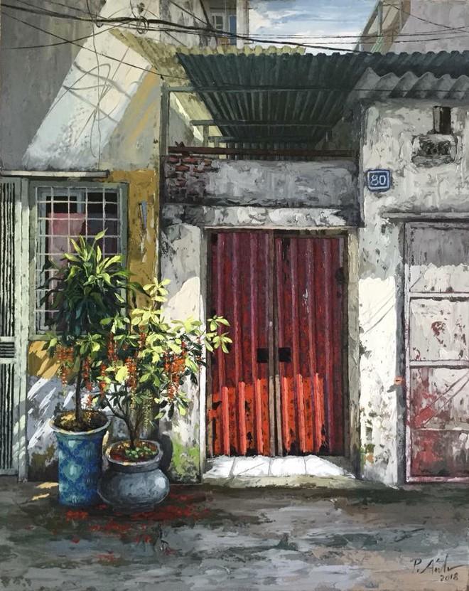 Chùm tranh sơn dầu chủ đề ngõ nhỏ, phố nhỏ đẹp ngỡ ngàng và chân thực không thua gì ảnh chụp - Ảnh 16.