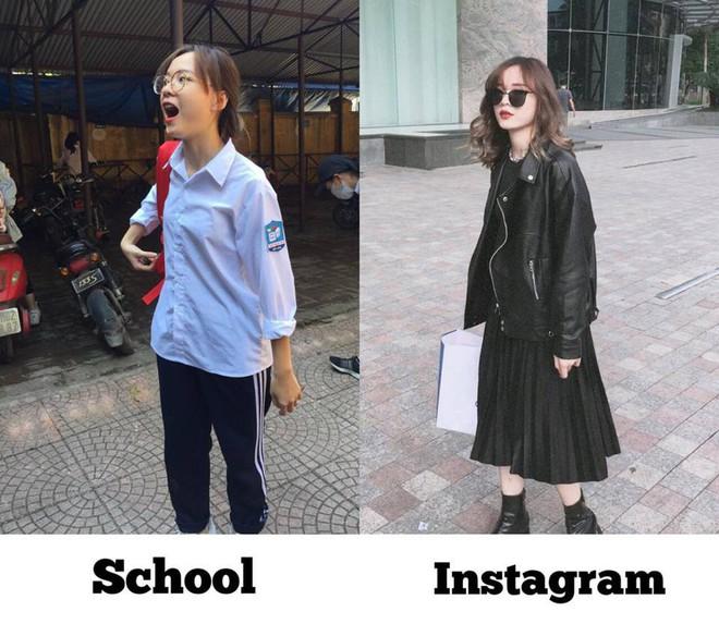 Danh tính cô bạn trong bức ảnh bóc phốt con gái lúc đi học và khi lên đồ trúng tim đen bao người - Ảnh 1.
