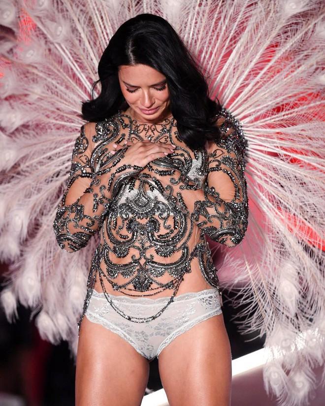 Thiên thần chị cả Adriana Lima chính thức chia tay Victorias Secret Fashion Show, xúc động bật khóc ngay trên sân khấu cuối cùng - Ảnh 2.