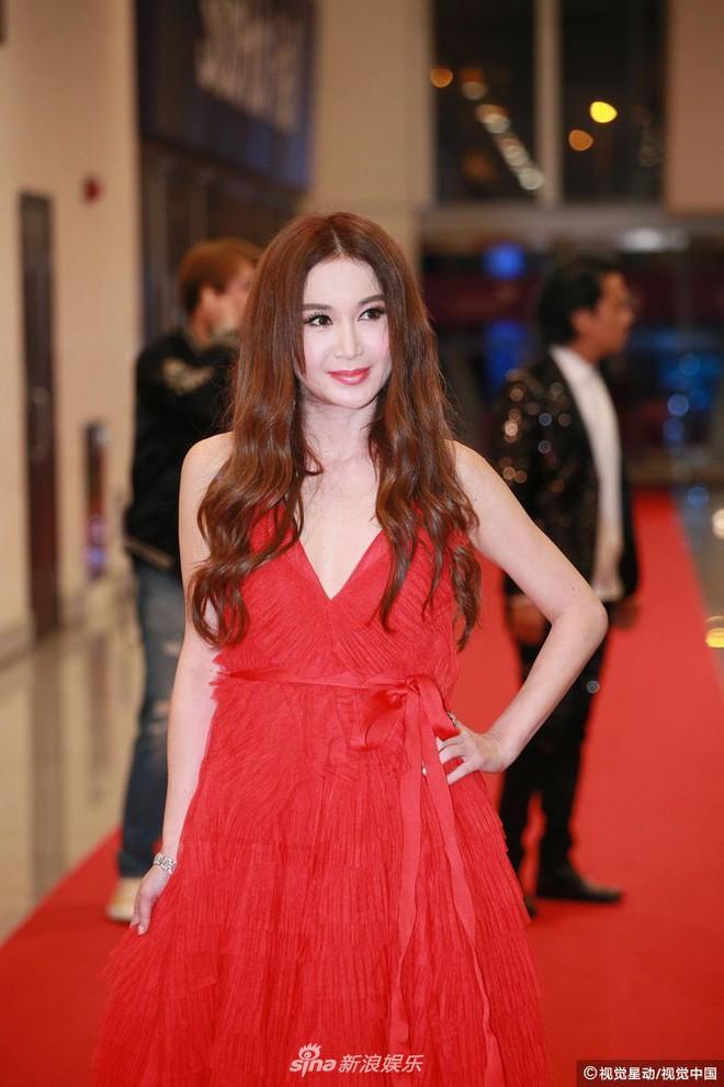 Thảm đỏ LHP Hoa Đỉnh: Hoa hậu Hong Kong diện đầm xuyên thấu khoe body, Ngô Cẩn Ngôn bánh bèo với váy xẻ sâu - ảnh 11