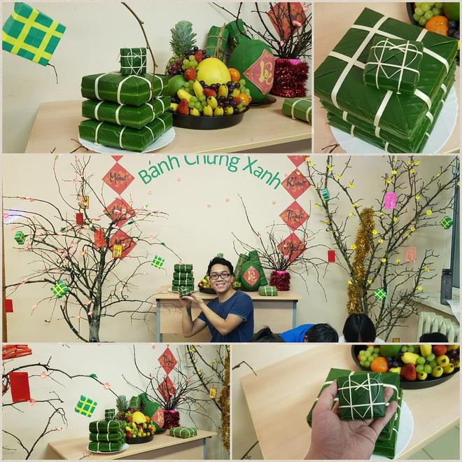 Du học sinh Việt dùng củi khô, gấp giấy ăn làm hoa đào, hoa mai đón Tết - Ảnh 4.