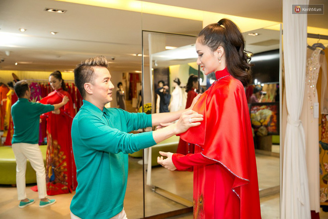 Đàm Vĩnh Hưng trực tiếp đưa Hương Giang đi thử áo dài chuẩn bị cho cuộc thi Hoa hậu Chuyển giới - Ảnh 7.