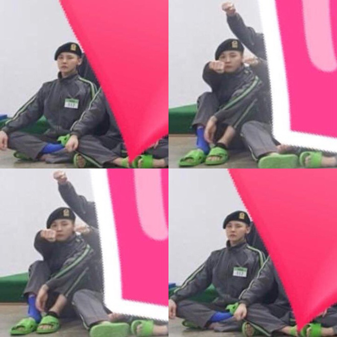 Lộ ảnh G-Dragon trong quân ngũ: Nghệ sĩ sang chảnh ngày nào giờ đây phải đi dép lê, co quắp một góc - Ảnh 1.