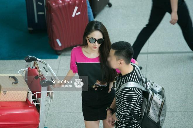 Hương Giang vội vã ở sân bay Tân Sơn Nhất, suýt muộn chuyến bay quay lại Thái Lan vì kẹt xe - Ảnh 9.
