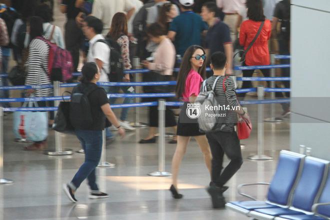 Hương Giang vội vã ở sân bay Tân Sơn Nhất, suýt muộn chuyến bay quay lại Thái Lan vì kẹt xe - Ảnh 12.