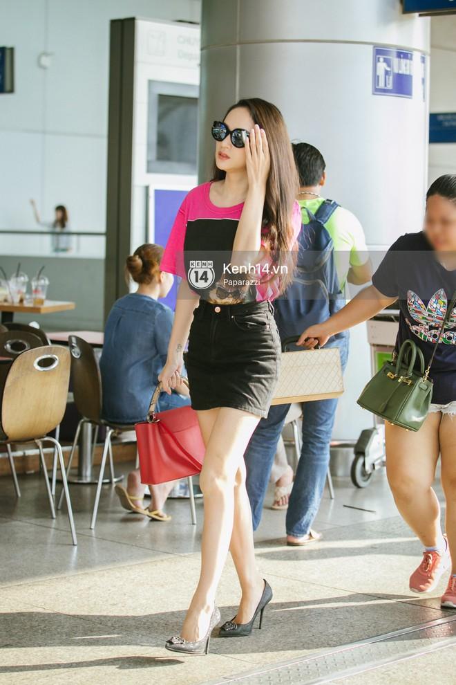 Hương Giang vội vã ở sân bay Tân Sơn Nhất, suýt muộn chuyến bay quay lại Thái Lan vì kẹt xe - Ảnh 3.