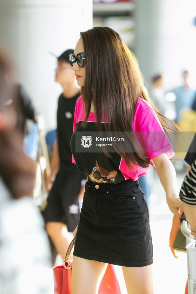 Hương Giang vội vã ở sân bay Tân Sơn Nhất, suýt muộn chuyến bay quay lại Thái Lan vì kẹt xe - Ảnh 4.